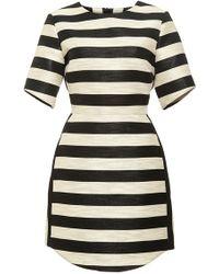 Haney Striped Shimmer Mini Dress - Lyst