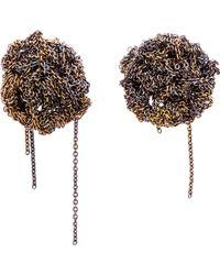 Arielle De Pinto - Gold Crescent Moon Earrings - Lyst