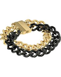 Michael Kors Collection Two-tone Curb Chain Bracelet - Lyst