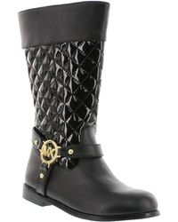 MICHAEL Michael Kors Emma Quilted Shaft Boots - Lyst