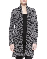 Neiman Marcus | Open-front Tiger Cashmere Cardigan | Lyst