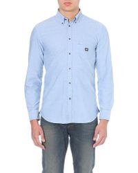 Diesel Slim-fit Cotton Shirt - Lyst