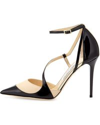 Jimmy Choo Mutya Asymmetric Point-toe Pump - Lyst