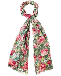 Cath Kidston - Greenwich Rose Print Scarf - Lyst