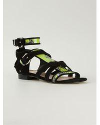 Markus Lupfer Zebra Print Sandals - Lyst