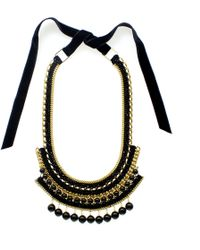 Margot & Me - Erin Necklace In Black - Lyst