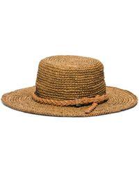 Michael Kors Santorini Raffia Straw Hat - Lyst