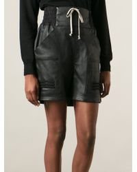 Rick Owens High Waisted Shorts - Lyst