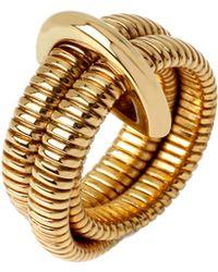 Diane von Furstenberg Grand Prix Double Snake Ring - Lyst