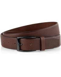 Hugo Boss Carlin | Woven Leather Belt - Lyst