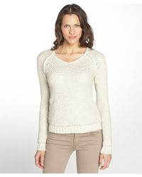 Autumn Cashmere Oatmeal Honeycomb Stitch Cotton Sweater - Lyst