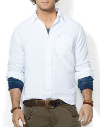 Ralph Lauren Polo Chambray Workshirt Slim Fit - Lyst