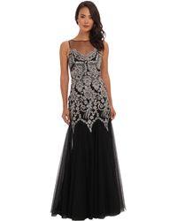 Badgley Mischka Caviar Sequin Gown - Lyst