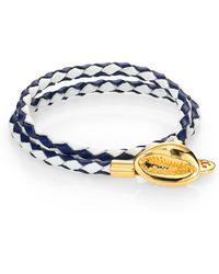 Tory Burch Mikah Woven Double-Wrap Bracelet - Lyst