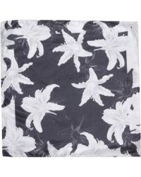 Les Hommes Square Scarf - Lyst
