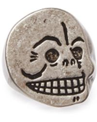 Cheap Monday Skull Ring silver - Lyst