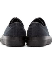 Naked & Famous - Black Canvas Sashiko Sneakers - Lyst