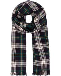Saint Laurent Carreaux Grande Tartan Stole - Lyst
