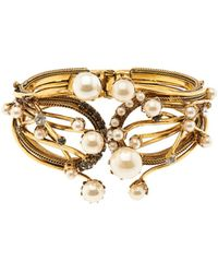 Erickson Beamon - Stratosphere Crystal & Faux-Pearl Cuff - Lyst