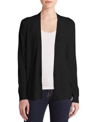 Theory Merino Wool V-Neck Cardigan - Lyst