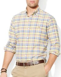 Ralph Lauren Polo Checked Poplin Shirt Slim Fit - Lyst