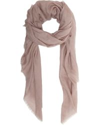 Barneys New York Lightweight Fringed Scarf - Lyst