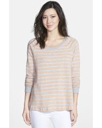 Splendid Double Stripe Long Sleeve Shirt - Lyst