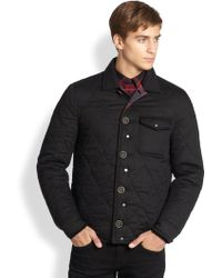 Burberry Brit Reversible Buffalo Check Quilted Field Jacket - Lyst