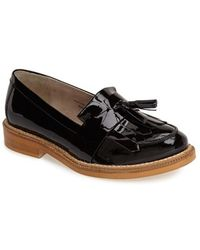 Topshop 'Krome' Patent Leather Loafer - Lyst