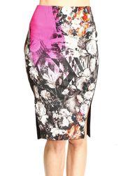 Roberto Cavalli - Just Cavalli Skirt Sheath Dress Print Flowers - Lyst