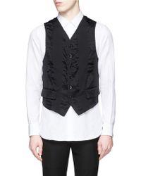 Ann Demeulemeester   Sheer Back Cotton-silk Waistcoat   Lyst