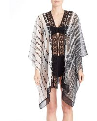 Amita Naithani - Animal Print Caftan Cover-up - Lyst