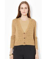 Lauren by Ralph Lauren Knit Cotton-Blend Sweater - Lyst