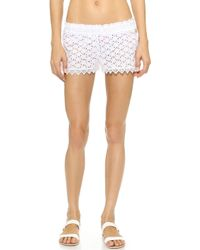 Ondademar Light Glam Eyelet Shorts - Glam - Lyst