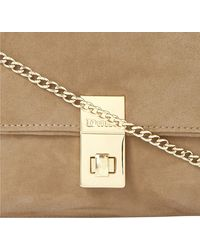 Dune Beautifuls Suede Clutch Minksuede - Lyst