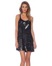 Parker X Revolve Embellished Hayden Combo Dress - Lyst