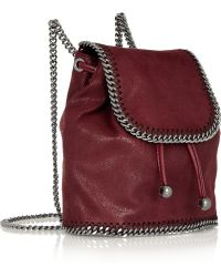 Stella McCartney The Falabella Mini Faux Brushedleather Backpack - Lyst