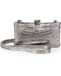 Nancy Gonzalez Mini Metallic Crocodile Crossbody Bag - Lyst
