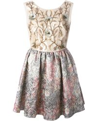 Notte by Marchesa Embellished Jacquard Dress multicolor - Lyst