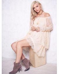 Free People - Womens Angel Lace Trapeze Mini Dress - Lyst