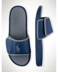 Polo Ralph Lauren Blue Romsey Sandal - Lyst
