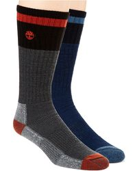 Timberland - Two Pack Merino Wool Boot Socks - Lyst