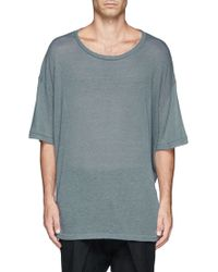 Haider Ackermann Dropped Shoulder Tshirt - Lyst