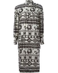 Yves Saint Laurent Vintage Etamine Ethnic Print Dress - Lyst
