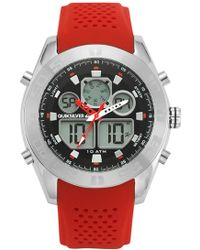 Quiksilver - 'the Fifty50' Silicone Strap Watch - Lyst