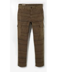 Mango Ethnic Print Cargo Trousers - Lyst