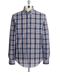 Lacoste Plaid Sports Shirt - Lyst