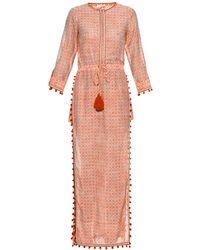 Talitha - Jaya Block-print Cotton And Silk-blend Dress - Lyst