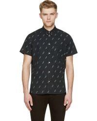 Paul Smith Black Cotton Lightening Shirt - Lyst