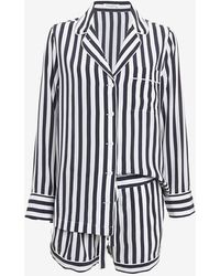 Equipment Lillian Silk Stripe Pajama Set - Lyst